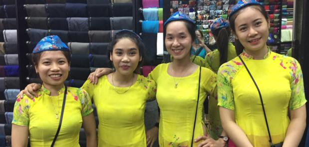vietnamese tailors with kippot